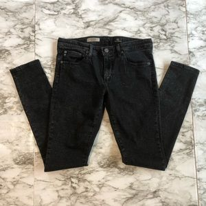 AG Black Legging Super Skinny Speckled Jeans - 29